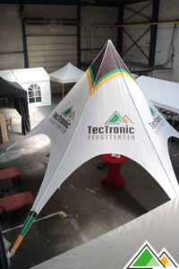Full colour bedrukte stertent TecTronic